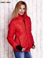 Czerwona ocieplana kurtka narciarska z kapturem FUNK N SOUL                                  zdj.                                  3