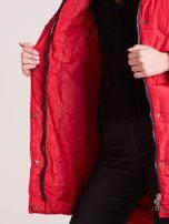 Czerwona pikowana kurtka na zimę                                  zdj.                                  8