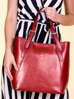 Czerwona skórzana torba shopper bag                                  zdj.                                  1