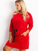 Czerwona sukienka plus size Lyric                                  zdj.                                  3