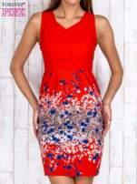 Czerwona sukienka z dekoltem na plecach                                  zdj.                                  1