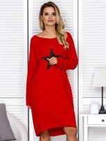 Czerwona sukienka z gwiazdą                                   zdj.                                  1