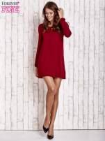 Czerwona sukienka ze sznurowanym dekoltem lace up                                  zdj.                                  2