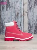 Czerwone buty trekkingowe Lorion damskie traperki                                   zdj.                                  2