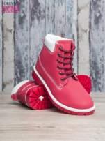 Czerwone buty trekkingowe Lorion damskie traperki                                   zdj.                                  4