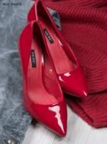 Czerwone lakierowane czółenka Avril na szpilce                                  zdj.                                  2