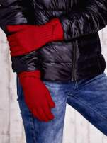 Czerwone rękawiczki z kokardą w stylu retro                                                                          zdj.                                                                         3