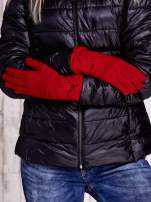 Burgundowe rękawiczki z kokardą w stylu retro                                                                          zdj.                                                                         2