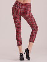 Czerwone spodnie w kratkę                                  zdj.                                  2