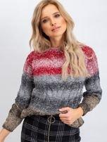 Czerwono-szary sweter Nevermind                                  zdj.                                  5