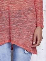Czerwony melanżowy sweter z łezką na plecach                                  zdj.                                  8