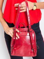 Czerwony plecak damski ze skóry ekologicznej                                  zdj.                                  2
