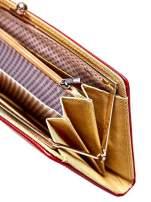 Czerwony portfel z motywem skóry węża z biglem