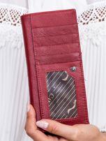 Czerwony portfel z wstawką w paski                                  zdj.                                  4