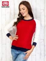Czerwony sweter o szerokim splocie                                  zdj.                                  3