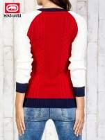 Czerwony sweter o szerokim splocie                                  zdj.                                  5