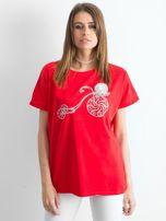 Czerwony t-shirt Ahead                                  zdj.                                  1