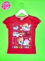 Czerwony t-shirt dla dziewczynki z motywem MY LITTLE PONY                                  zdj.                                  1