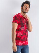 Czerwony t-shirt męski Moro                                  zdj.                                  3
