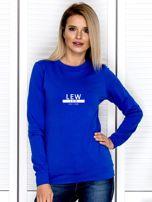 Damska bluza ze znakiem zodiaku LEW kobaltowa                                  zdj.                                  1