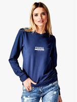 Damska bluza ze znakiem zodiaku PANNA granatowa                                  zdj.                                  1