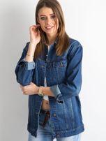 Damska jeansowa kurtka niebieska                                  zdj.                                  1