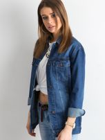 Damska jeansowa kurtka niebieska                                  zdj.                                  5
