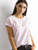 Damski t-shirt jasnoróżowy                                  zdj.                                  1