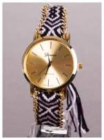Damski zegarek. Styl BOHO. Pleciony pasek. Bardzo modny.