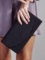 Duża brokatowa kopertówka czarna                                  zdj.                                  1