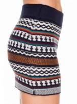 Dzianinowa mini spódniczka tuba w azteckie wzory                                                                          zdj.                                                                         7