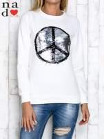 Ciemnoszara bluza z dwustronną naszywką z cekinów                                                                          zdj.                                                                         5