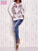 Ecru bluza z motywem róż                                  zdj.                                  4