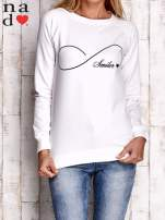 Ecru bluza z napisem SMILER