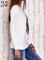 Ciemnoszara bluza z piórkiem                                                                          zdj.                                                                         3