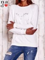 Ecru bluza z wzorem serca                                  zdj.                                  1