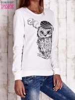 Ecru bluza ze zwierzęcym nadrukiem                                  zdj.                                  3