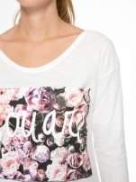 Ecru bluzka z motywem kwiatowym YOU ARE...                                  zdj.                                  7