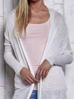 Szary długi sweter wzór melanżowy                                                                          zdj.                                                                         6
