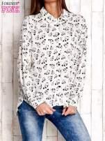 Ecru koszula w pandy