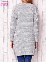 Ecru melanżowy otwarty sweter                                   zdj.                                  4