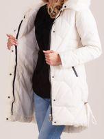 Ecru pikowana kurtka na zimę                                  zdj.                                  7