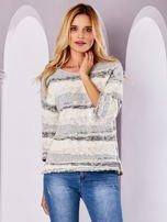 Ecru sweter melange                                  zdj.                                  1