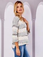 Ecru sweter melange                                  zdj.                                  5