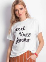 Ecru t-shirt Good Times Forever