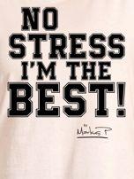 Ecru t-shirt damski I'M THE BEST! by Markus P                                  zdj.                                  2