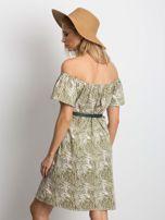 Ecru-zielona sukienka Mansion                                  zdj.                                  2