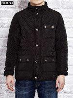FIRETRAP Czarna pikowana kurtka dla chłopca                                  zdj.                                  7