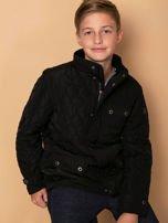 FIRETRAP Czarna pikowana kurtka dla chłopca                                  zdj.                                  2