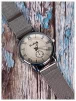 Fashion -Klasyka i elegancja srebrny damski zegarek retro                                   zdj.                                  1